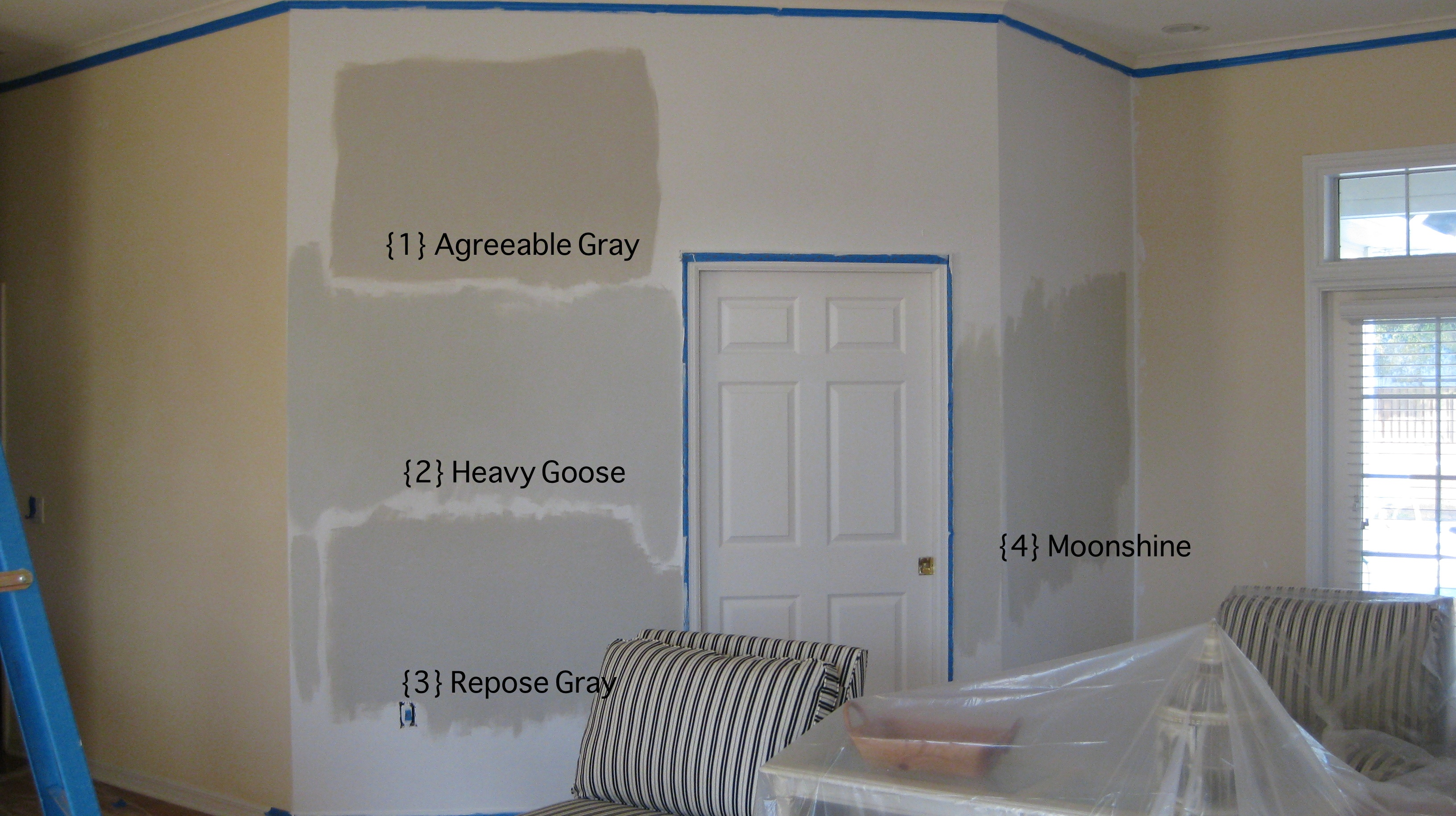 Sherwin Williams Agreeable Gray And Moonshine By Bm Cb