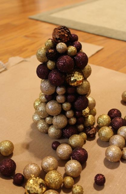 modern gilded glitter trees