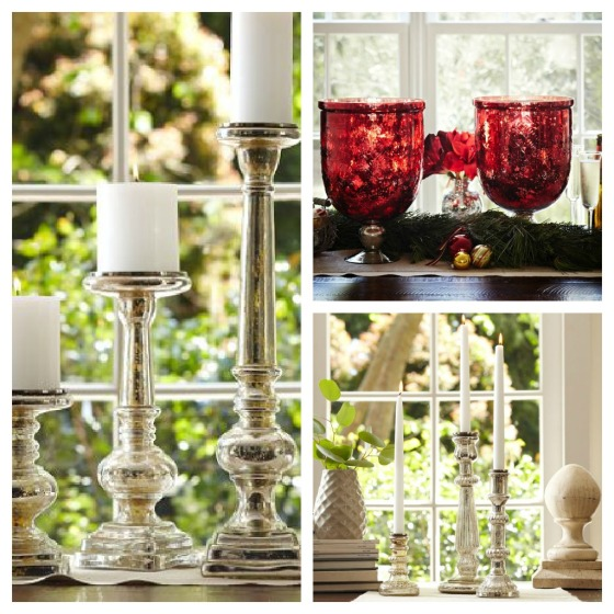 pottery barn mercury glass